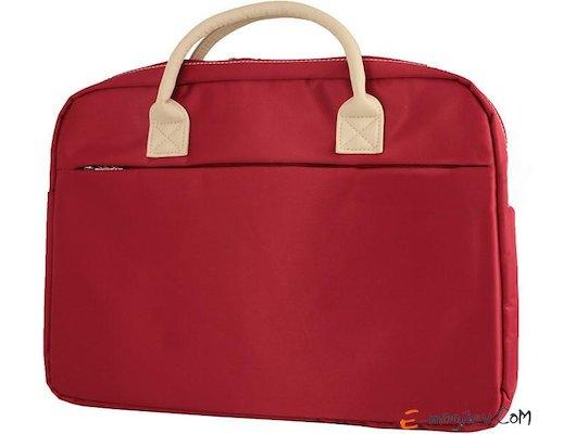 Кейс для ноутбука Jet.A LB15-72 до 15,6 (Красный, ЖЕНСКАЯ, материал-нейлон, LUXURY дизайн, съемный ремень, SIZE 400x70