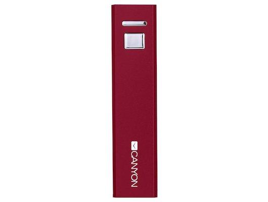 Портативный аккумулятор CANYON CNE-CSPB26R 2600mAh красный