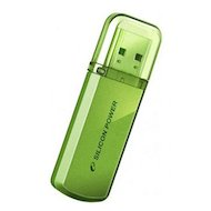 Флеш-диск USB2.0 Silicon Power 16 GB Helios 101 SP016GBUF2101V1N зелёный