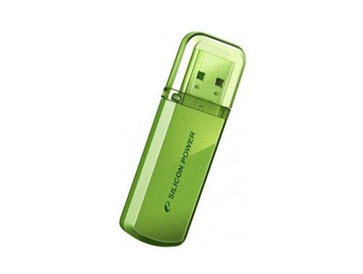 Флеш-диск USB2.0 Silicon Power 16 GB Helios 101 SP016GBUF2101V1N зелёный