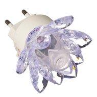 Фото Декоративный светильник 920-033 Светильник-ночник в розетку Лилия с переключателем 0.2Вт пластик металл 7х7см
