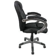 Фото College H-8703F-2A Кресло руководителя черное ткань (273642)