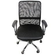 College Кресло офисное H-8078F-5 Черный, ткань, сетчатый акрил, 120 кг, крестовина хром/металл, подл