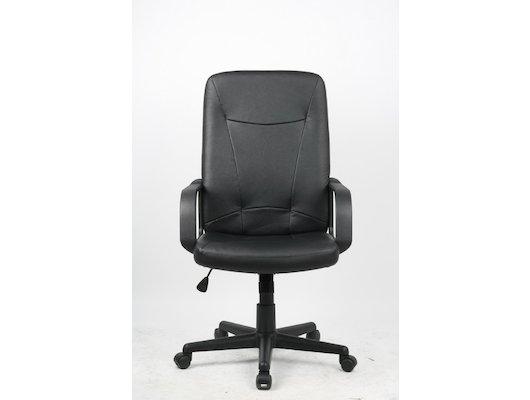 College H-8365L-1 Кресло руководителя черный экокожа (273645)