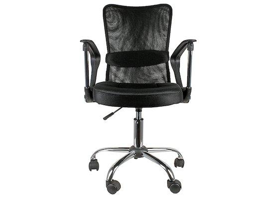College Кресло офисное H-298FA-1 Черный, ткань, сетчатый акрил, 120 кг, крестовина хром, подлокотник
