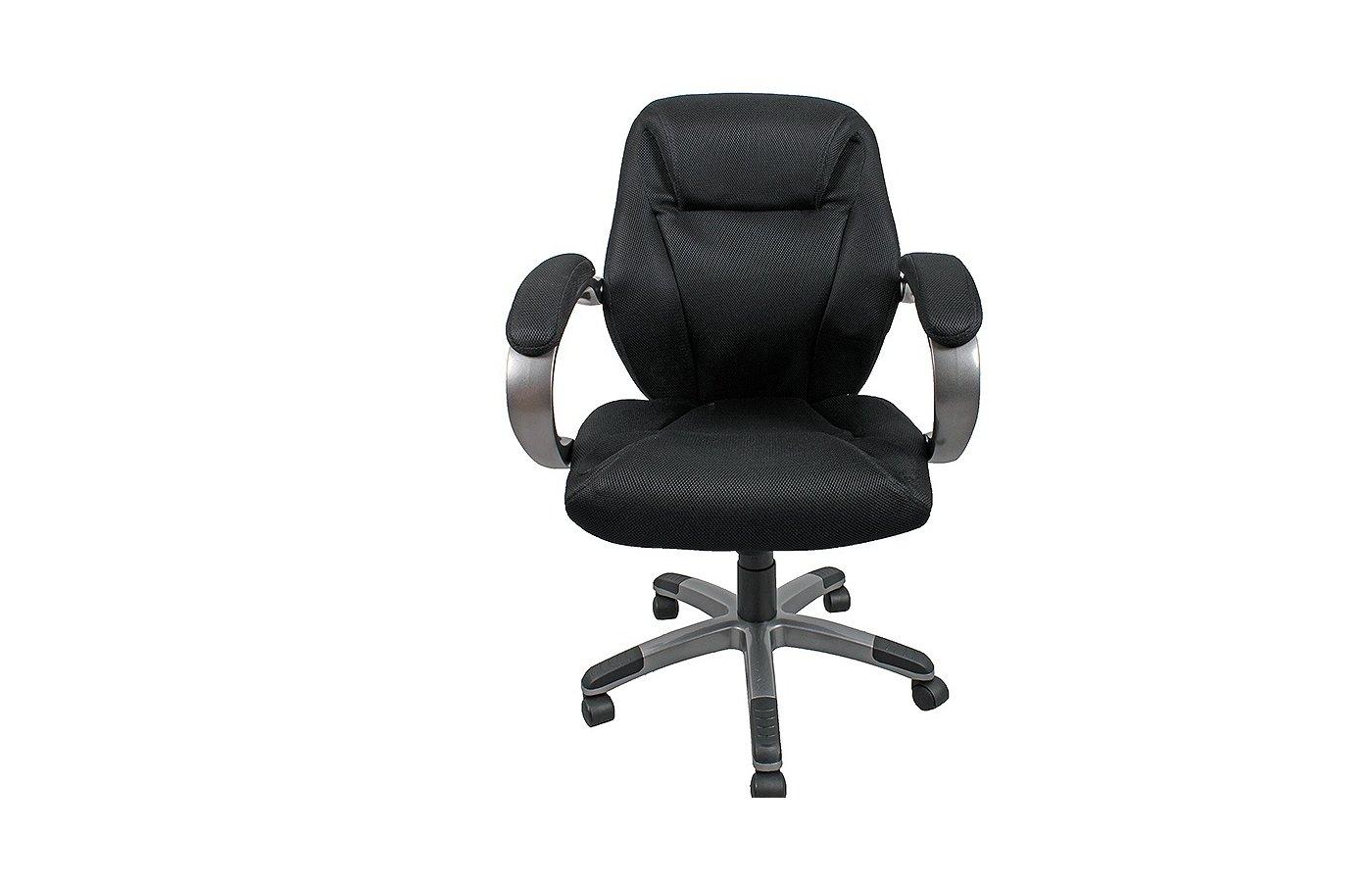 College H-8703F-2A Кресло руководителя черное ткань (273642)