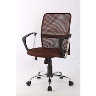 Фото College Кресло офисное H-8078F-5 Коричневый, ткань, сетчатый акрил, 120 кг, крестовина хром/металл,