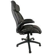Фото College Кресло офисное HLC-0383-1, коричневый, экокожа, 120 кг, подлокотники черный пластик/кожа, кр