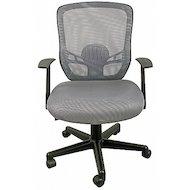 College Кресло офисное HLC-0420F-1C-1 серый ткань, сетчатый акрил, 120 кг, крестовина и подлокотники