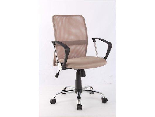 College Кресло офисное H-8078F-5 Бежевый, ткань, сетчатый акрил, 120 кг, крестовина хром/металл, под