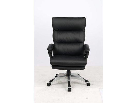 College Кресло руководителя HLC-0802-1, черный, экокожа, 120 кг, подлокотники пластик/кожа, крестови