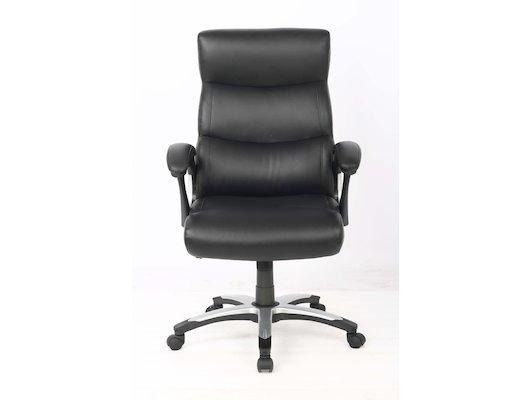 College Кресло руководителя H-8846L-1, черный, экокожа, 120 кг, подлокотники пластик/кожа, крестовин