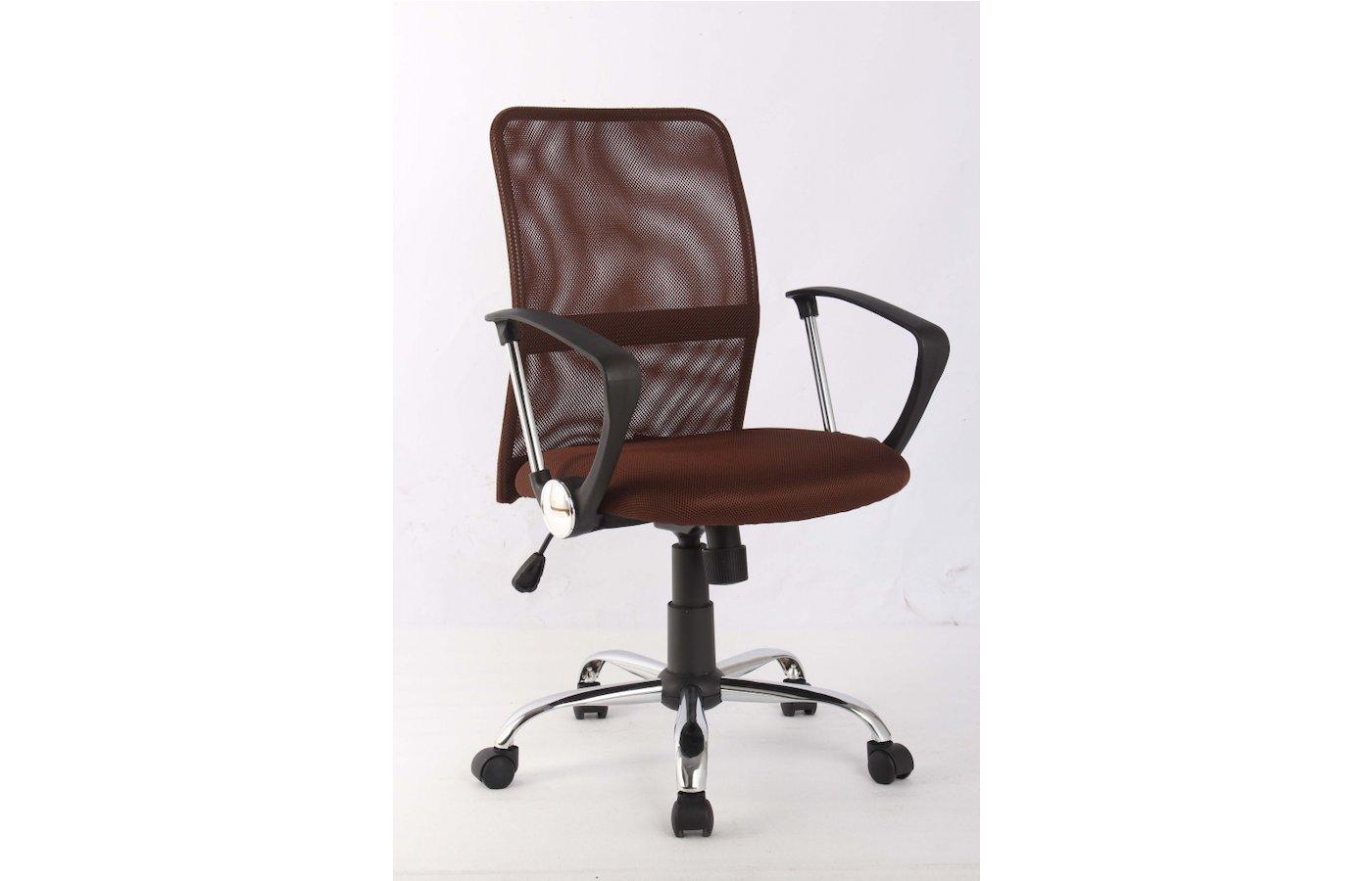 College Кресло офисное H-8078F-5 Коричневый, ткань, сетчатый акрил, 120 кг, крестовина хром/металл,