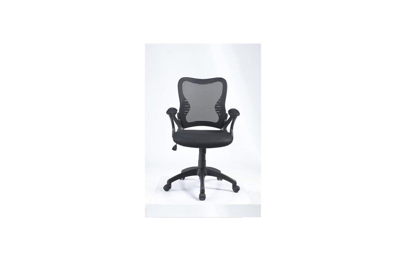 College Кресло офисное HLC-0758F Черный, сетчатый акрил, 120 кг, подлок. с мягк. накладками, высота