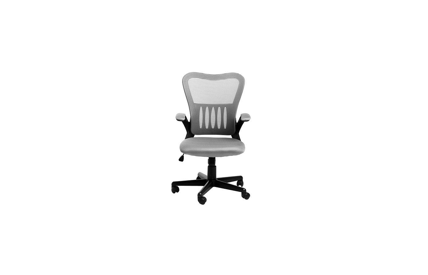 College Кресло офисное HLC-0658F серый ткань, сетчатый акрил, 120 кг, крестовина и подлокотники черн