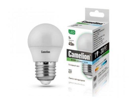 Лампочки LED Camelion LED5-G45/845/E27 (Эл. светодиодная 5Вт 220 В)
