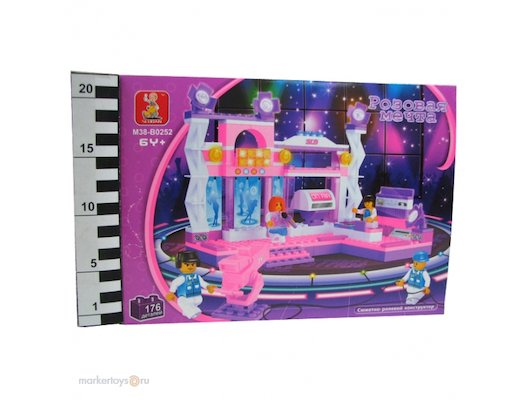 Конструктор SLUBAN 38-0252 Розовая мечта