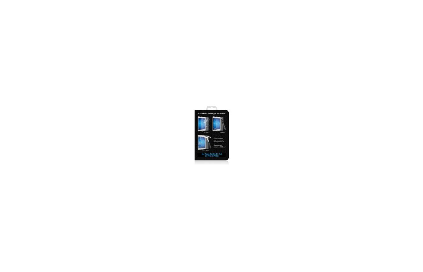 Защитная пленка DF Стекло для Asus ZenPad C 7.0 (Z170C/Z170CG) aSteel-13