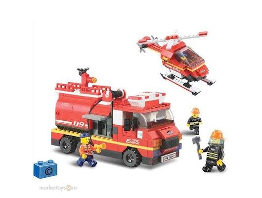 Конструктор SLUBAN 38-0222МВ Пожарная служба