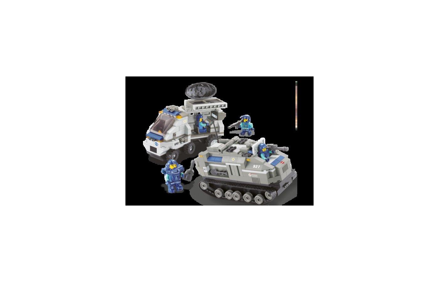 Конструктор SLUBAN 38-0207МВ Танк+машина
