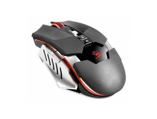 Мышь беспроводная A4Tech Bloody RT5 Warrior черный/серый оптическая (4000dpi) беспроводная USB2.0 игровая (8but)