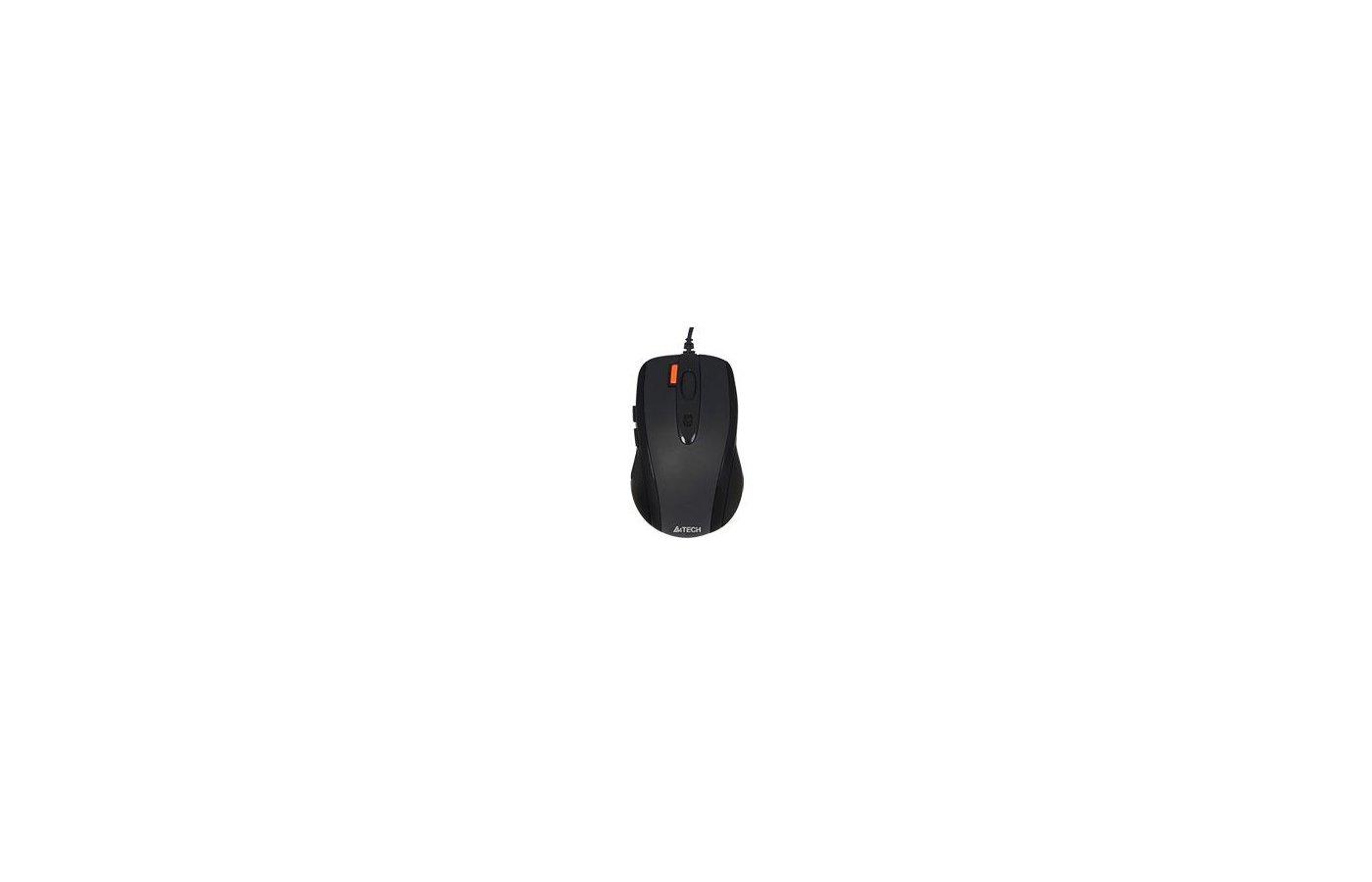 Мышь проводная A4Tech V-Track Padless N-70FX черный оптическая (1600dpi) USB для ноутбука (6but)