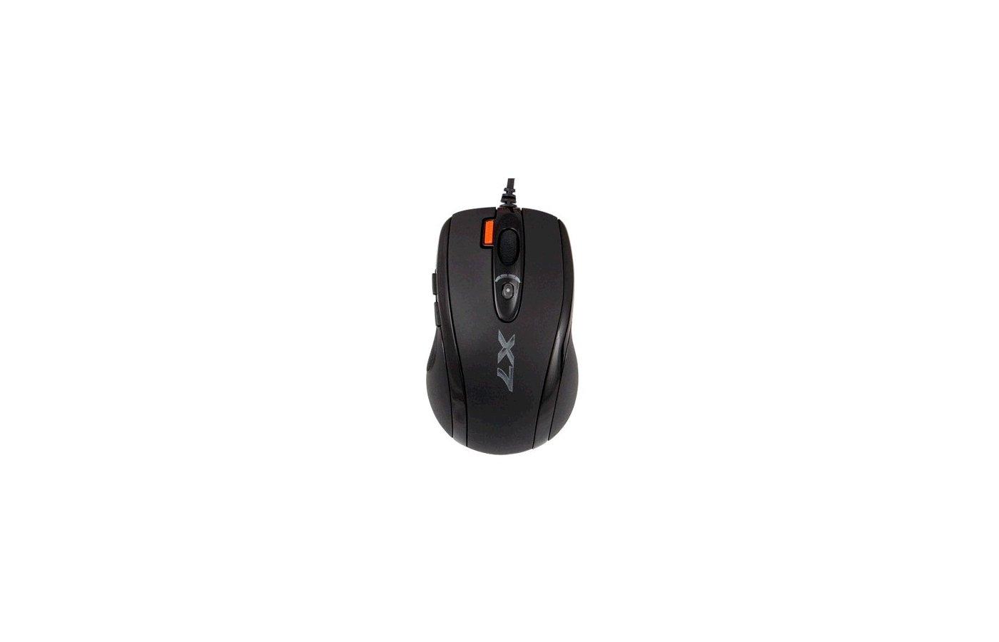 Мышь проводная A4Tech X-710MK черный оптическая (2000dpi) USB игровая (6but)