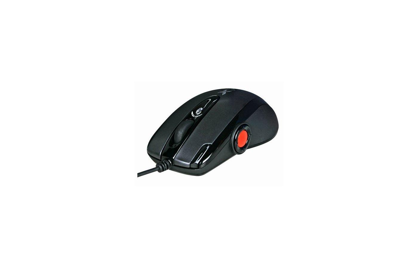 Мышь проводная A4Tech XL-755BK черный лазерная (3600dpi) USB2.0 игровая (9but)