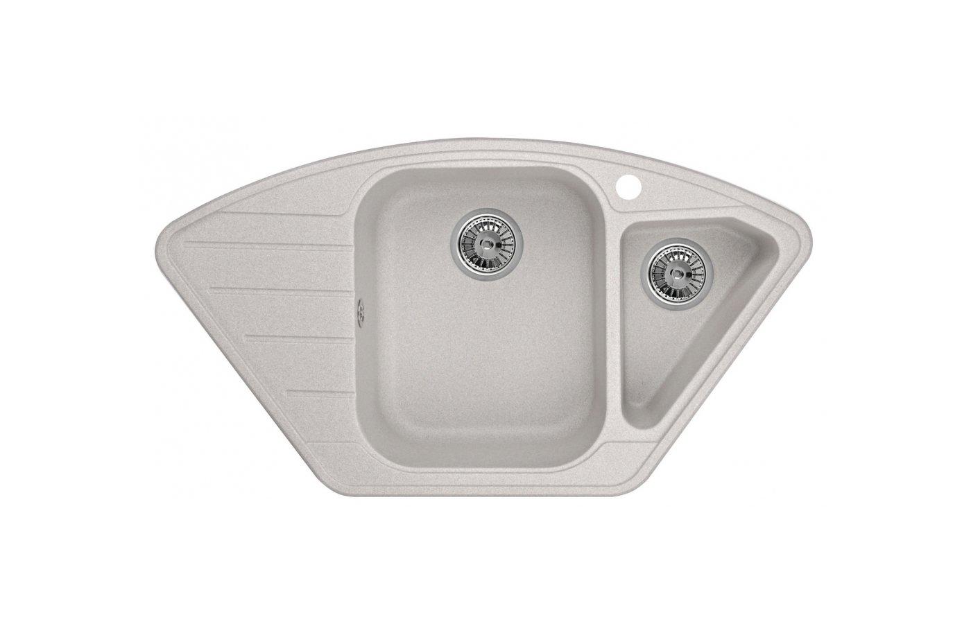 Кухонная мойка Weissgauff CORNER 890 Eco Granit светло-бежевый