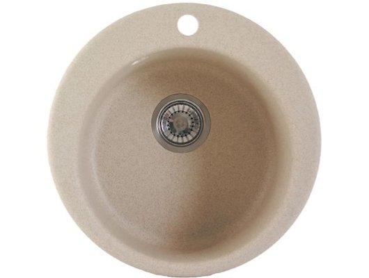 Кухонная мойка Weissgauff RONDO 480 Eco Granit серый беж