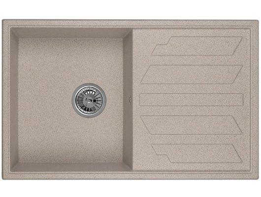 Кухонная мойка Weissgauff QUADRO 800 Eco Granit песочный