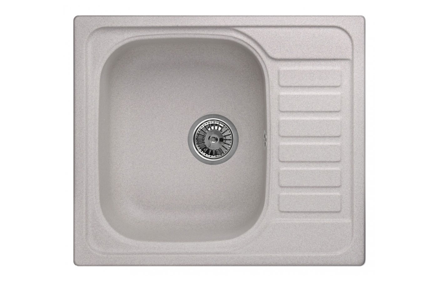 Кухонная мойка Weissgauff QUADRO 575 Eco Granit серый шелк