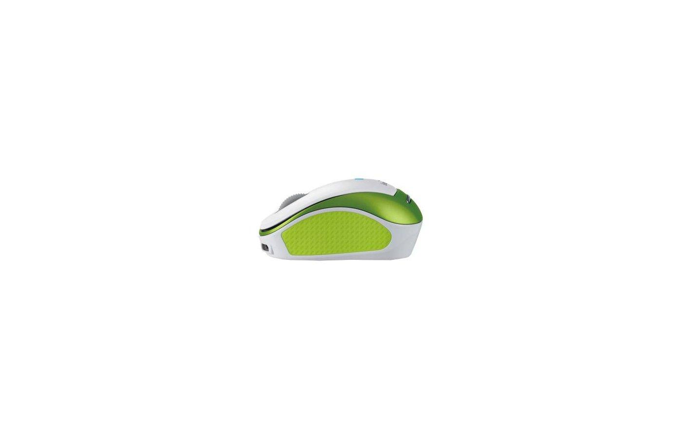 Мышь беспроводная Genius Micro Traveler 9000R белый/зеленый оптическая (1200dpi) беспроводная USB для ноутбука (2but)