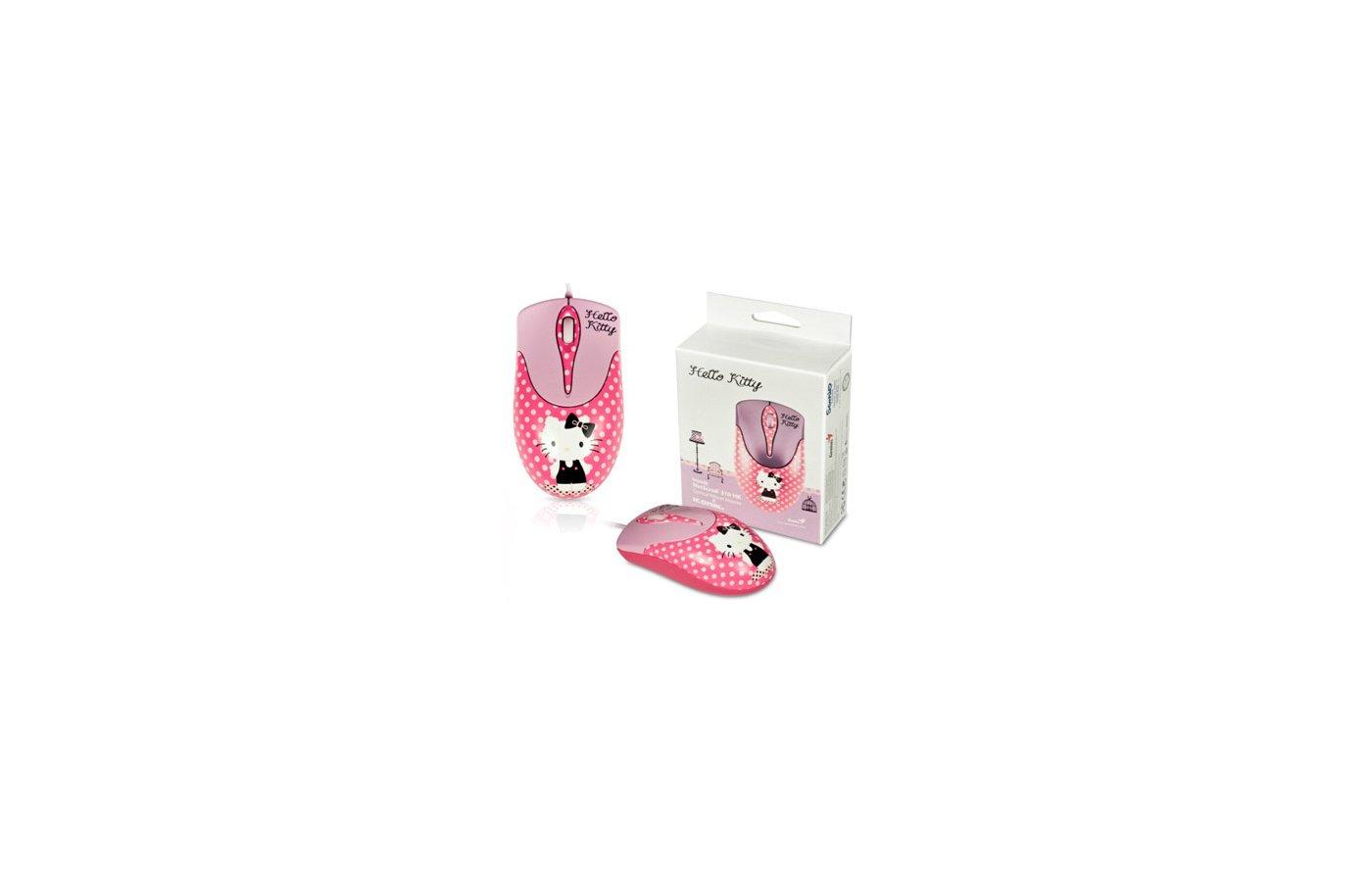 Мышь проводная Genius NetScroll 310 Hello Kitty розовый/рисунок оптическая (800dpi) USB для ноутбука (2but)