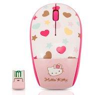 Фото Мышь беспроводная Genius Traveler 9000 Hello Kitty розовый/белый/черный оптическая (1200dpi) беспроводная USB для ноут