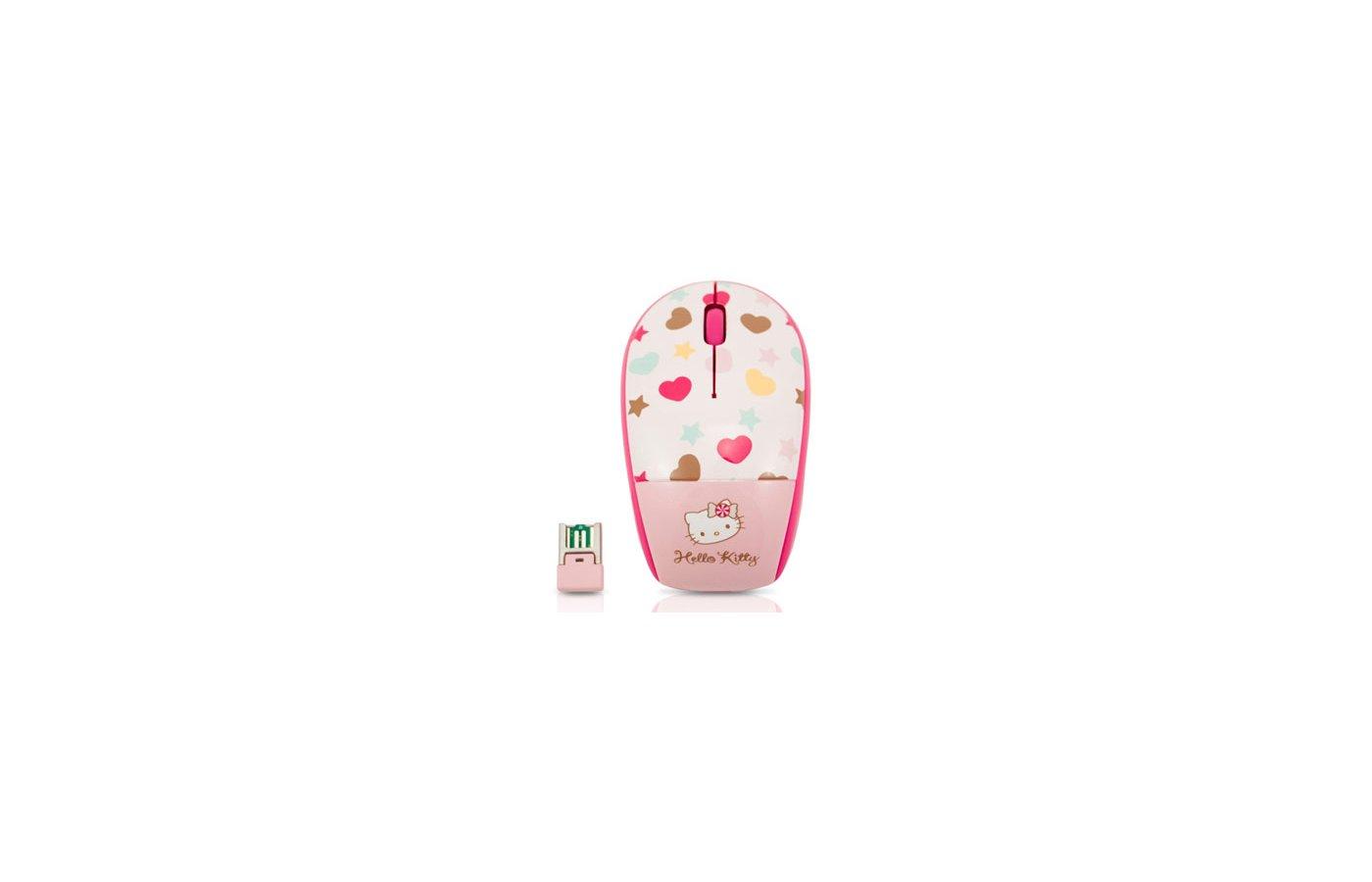 Мышь беспроводная Genius Traveler 9000 Hello Kitty розовый/белый/черный оптическая (1200dpi) беспроводная USB для ноут