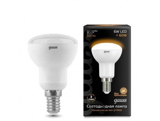 Лампочки LED Gauss LED Reflector R50 E14 6W 2700K 1/10/50