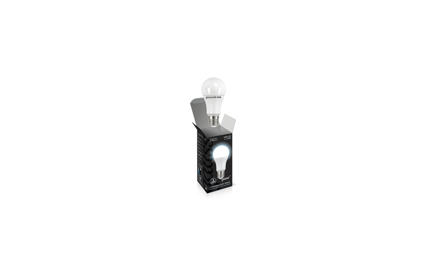 Лампочки LED Gauss LED A60 10W E27 4100K 1/10/40