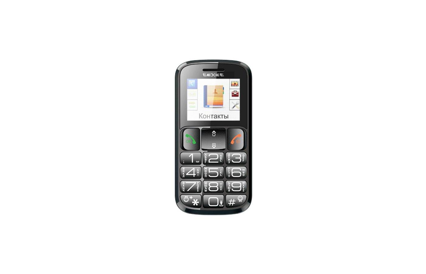 Мобильный телефон TeXet TM-116B черный