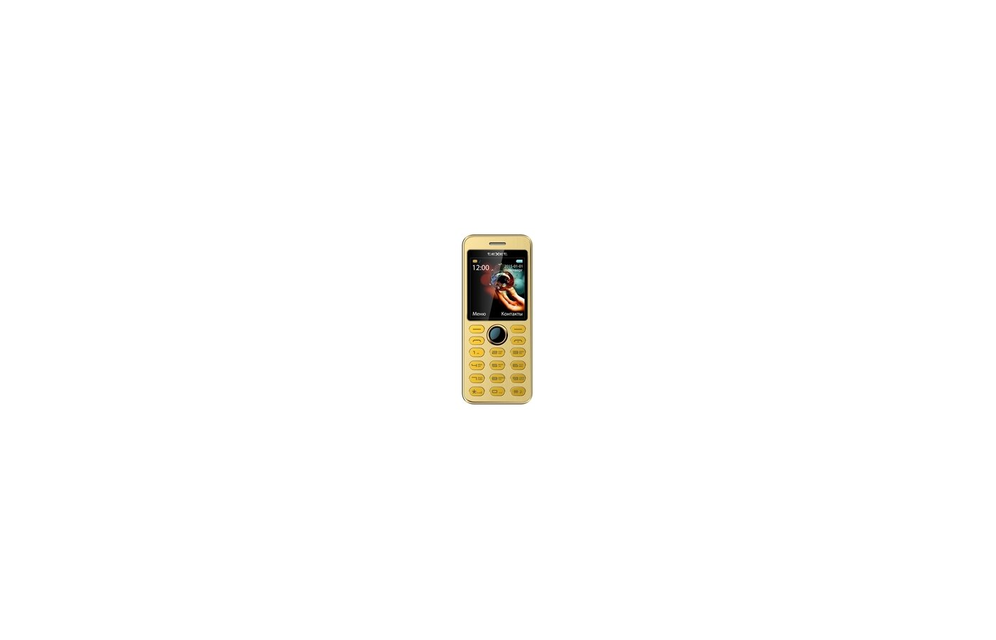 Мобильный телефон TeXet TM-224B золотистый