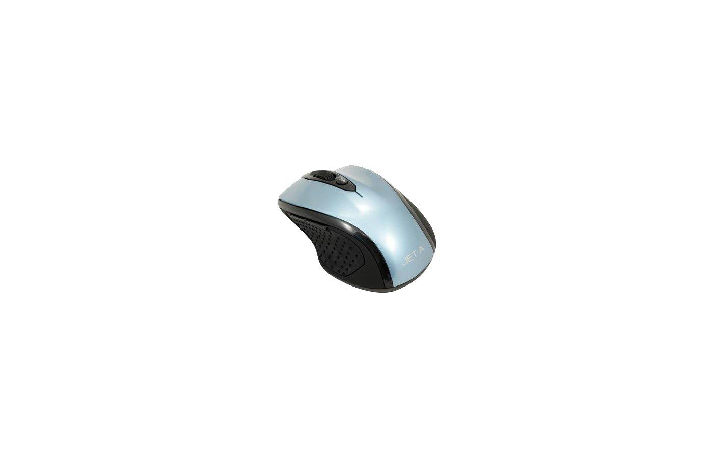 Мышь беспроводная Jet.A Black Style OM-U24G Blue