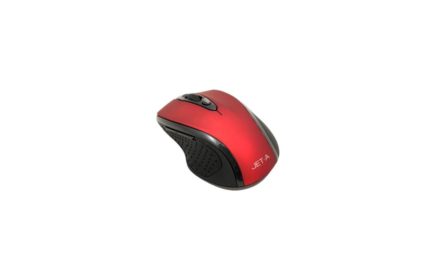 Мышь беспроводная Jet.A Black Style OM-U24G Red