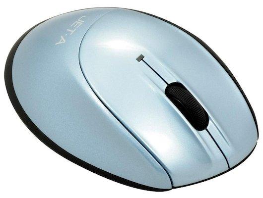 Мышь беспроводная Jet.A Black Style OM-U26G Blue