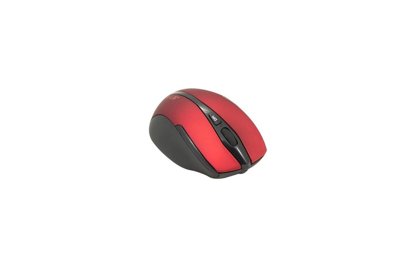 Мышь беспроводная Jet.A Black Style OM-U25G Red
