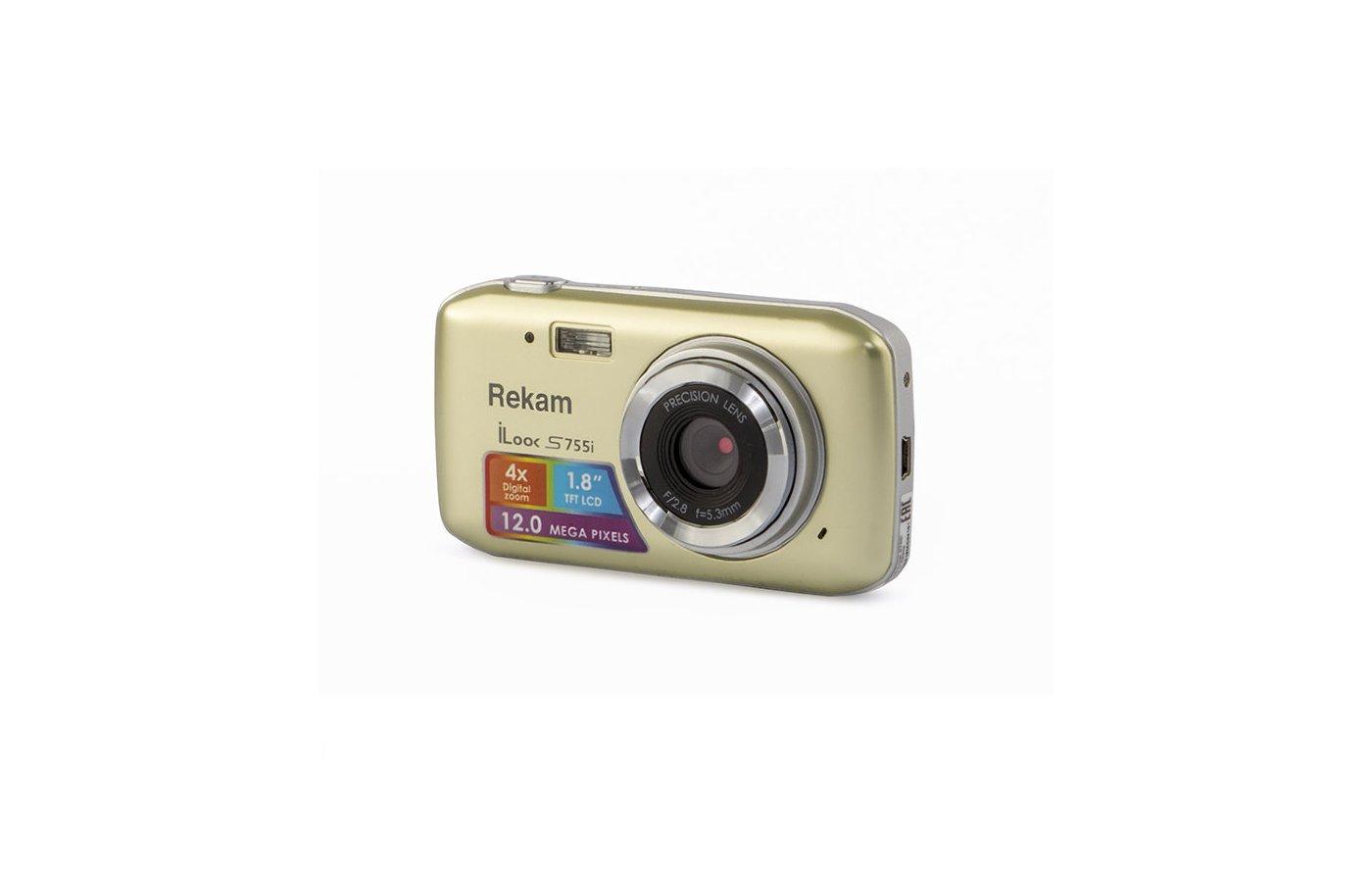 Фотоаппарат компактный Rekam iLook S755i шампань