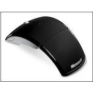 Мышь беспроводная Microsoft ARC черный лазерная (1000dpi) беспроводная USB (3but)
