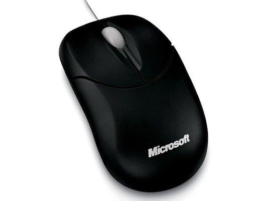 Мышь проводная Microsoft Compact 500 черный оптическая (800dpi) USB (2but)