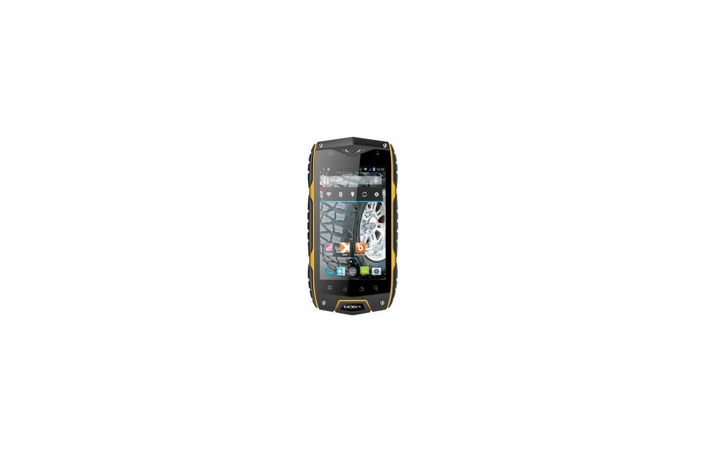 Смартфон TeXet TM-4082R X-driver черный желтый