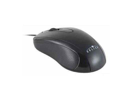 Мышь проводная Oklick 205M черный оптическая (800dpi) USB (2but)
