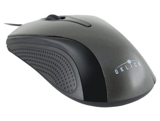 Мышь проводная Oklick 215M черный/серый оптическая (800dpi) USB (2but)